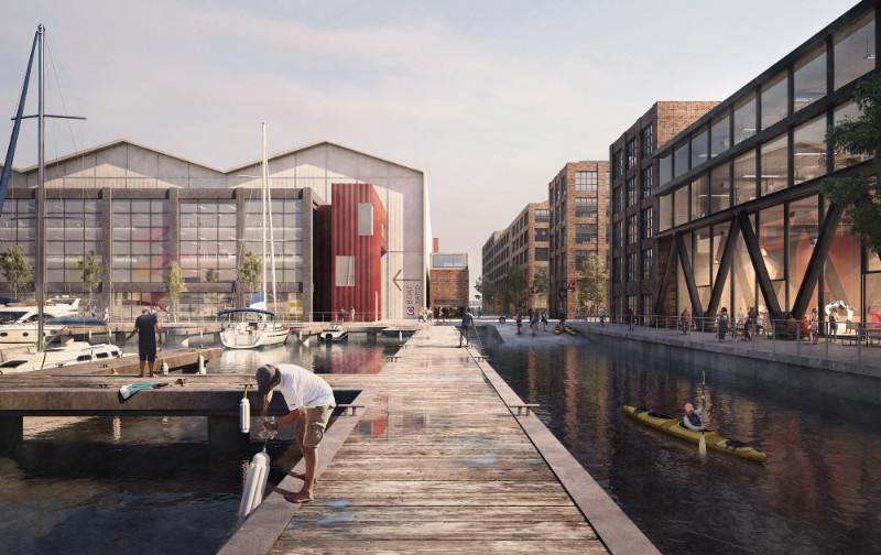 Эскиз плана острова компании изВеликобритании LDA Design